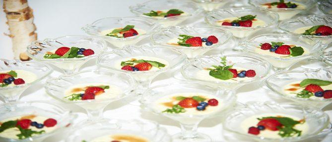 Panna Cotta-Hochzeit Catering